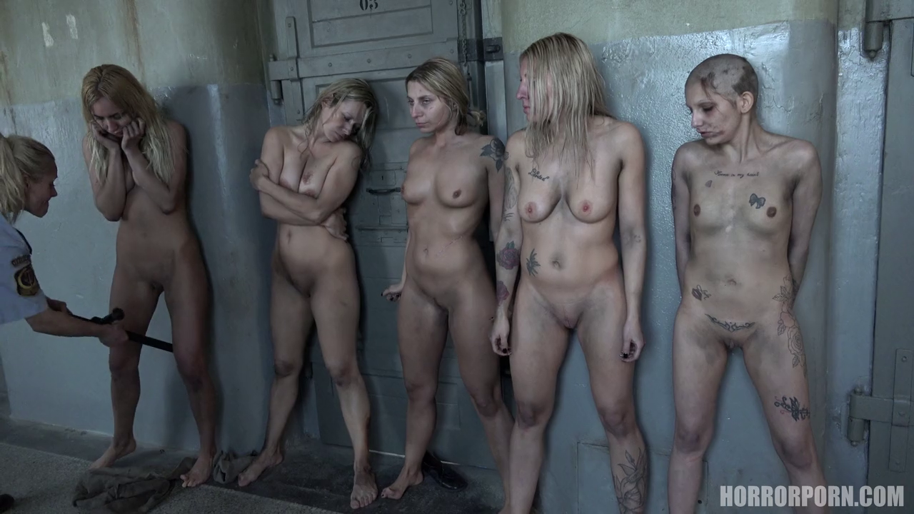 agony inside a russian bootcamp – group of unwashed nude girls gets abused by the ward