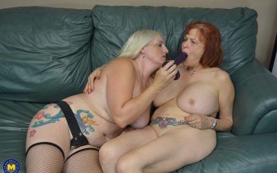 ugly young girl puts her fingers inside an older womens cunt with joy