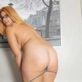 average looking girl with glasses showing her special masturbation techniques picture 9
