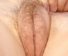 horny hairy milf with fierce swollen labia is bored
